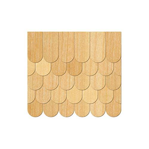 Furnier Schindeln Holzschindeln Biberschwanz Kirsche, Schindelgröße:85mm x 42.5mm, Pack mit:250 Stück