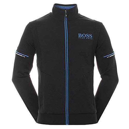 Hugo Boss Herren Skaz Basic Sweat Jacket Sweatshirt, schwarz, Groß
