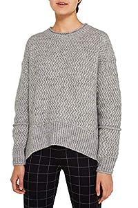 edc by ESPRIT Damen 119CC1I005 Pullover, Grau (Light Grey 5 044), Large (Herstellergröße: L)