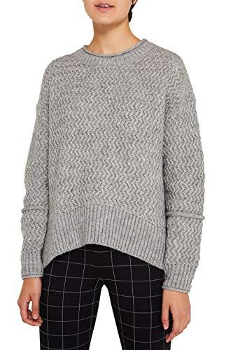 edc by ESPRIT Damen 119CC1I005 Pullover, Grau (Light Grey 5 044), Medium (Herstellergröße: M)
