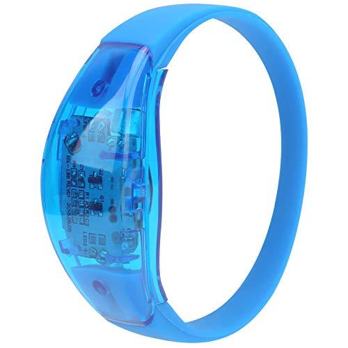 Pulsera LED para fiestas, control de sonido Pulsera LED con apariencia fresca Control de la luz de la pulsera por sonido Durable para fiestas para bares para escenarios para(blue)