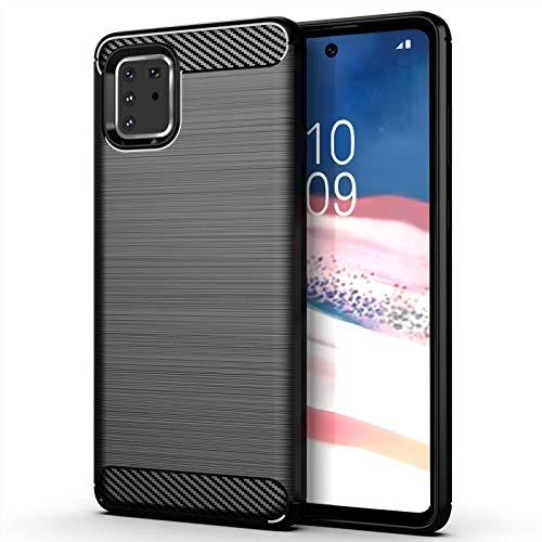 32nd Serie di Carbonio - Custodia Antiurto Slim Armor Cover per Samsung Galaxy Note 10 Lite Custodia Protettiva Compatta, Sottile e Resistente - Nero