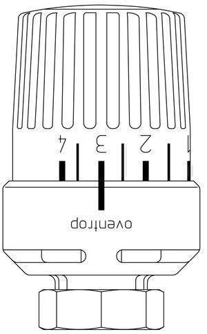 Oventrop Thermostat Uni RTLH weiß, Sollwert 10-50 °C 1027165