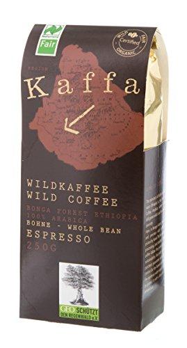 Kaffa Wildkaffee Bio Kaffa Wildkaffee, Espresso, ganze Bohne, 250g (1 x 250 gr)