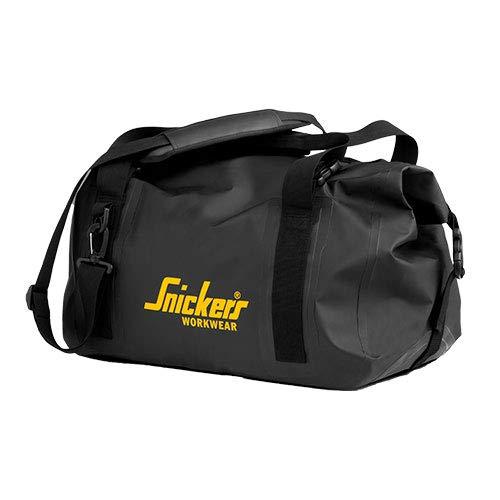 Snickers 9125 Logo Duffel Cloths Work Gym Bag 28 Litre Black Sholder Strap