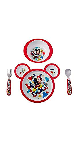 Mickey Mouse Microwavable Plate Set