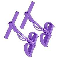 伸縮性のあるプルロープ、腹筋トレーニングロープ、屋外、屋内向けの高品質(purple)