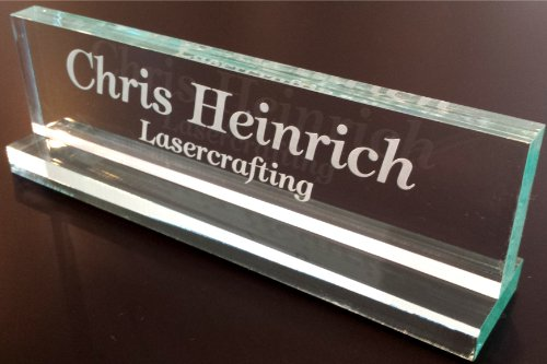 Office Desk Name Plate 1/2' Glass-Like Acrylic Personalized/Customized
