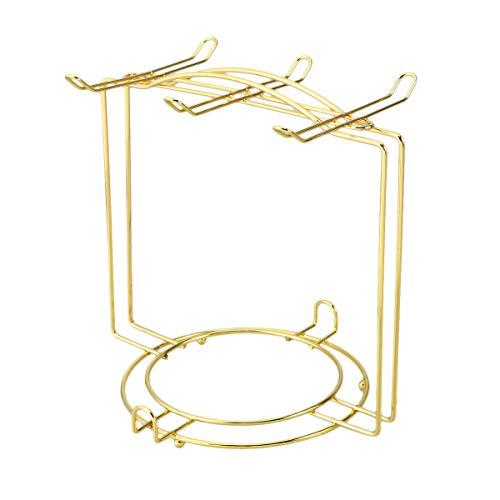 BESTonZON Tassenhalter Becherhalter Becherbaum Edelstahl Tassenbaum Display Stand Tee Tasse Becher Organizer für 6 Kaffeetasse (Golden)