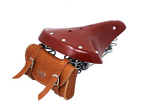 Selle Montegrappa Cucuba® Bolsa para sillín 100% sillin de Bicicleta Estilo Vintage...