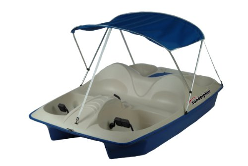 Cheapest Price! SUNDOLPHIN Sun Dolphin 5 Seat Pedal Boat with Canopy, Ocean