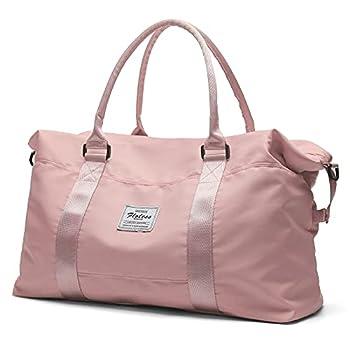 Travel Duffel Bag Sports Tote Gym Bag Shoulder Weekender Overnight Bag for Women