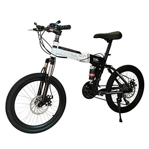 TTW Niños niñas 20 Pulgadas Plegable Bicicleta de montaña Shimano 21/24/27 Velocidad...