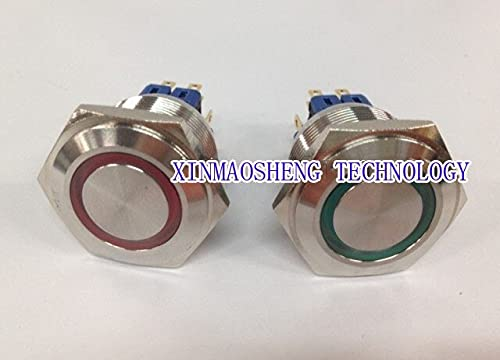 25mm Double Poles Quality inspection 1 year warranty Momentary Push Lighted Button Switch LED with