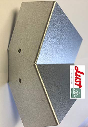 Lust Ideen aus Blech Seit 1920 Alu Zink Eckverbindung 135° zur Gestaltung eines Beetes in Rauten Form