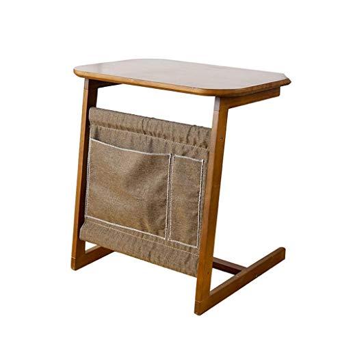 Portable Portable Table D'ordinateur Portable Lazy Canapé-lit Chambre Petit Bureau Maison Étudiant Écriture Ordinateur Bambou Matériel Table Basse 60x40x65cm