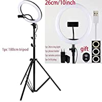 26cm 180cm Tripod 16cm26cm 30cm 45cm Selfie Ring Light With Phone Camera Holder Photography Lighting With Tripod Remote Control For Photo Video