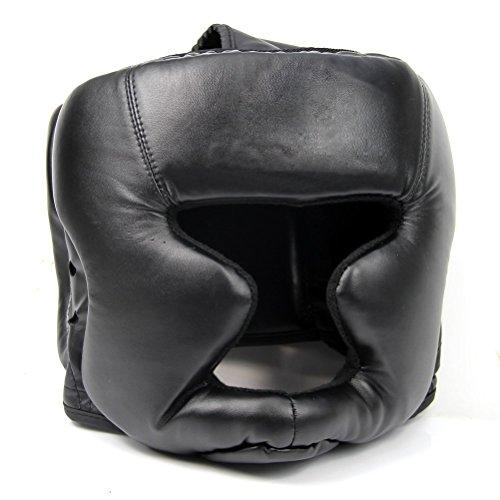 Katigan Sombrereria Buena Negra Guardia de Cabeza Casco de Entrenamiento Equipo de Proteccion del Boxeo Patada