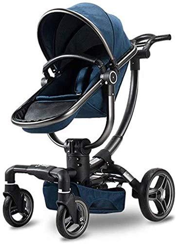 BESTPRVA Cochecito de bebé portable del carro de bebé del cochecito silla de paseo 2 en 1 cochecito de bebé sistema de viaje plegable infantil con Buggy Ligera Fram asiento ajustable y grande UPF 50+