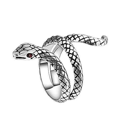 YUEKUN Punk Schlange Ring Schlangenring Temperament Schlange Einstellbar Weinlese-Ring Party Ring Gothik Ring Finger Snake Finger Ring