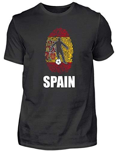 Camiseta de la selección alemana de fútbol de Rusia 2018, para fans de España, diseño nacional con huellas dactilares Negro M