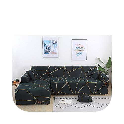 HCIUUI L Shape Sofabezüge für Living Room Corner Sofa Cover Stretch Slipcover Separated Design (L Shape Must Buy 2 Pieces) - Farbe 2-4-seater 235-300cm