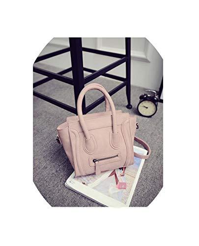 New Fashion Women Cross Body Bag Female Pu Leather Casual Shoulder Bag Handbag Ladies Trapeze Bag,Pink