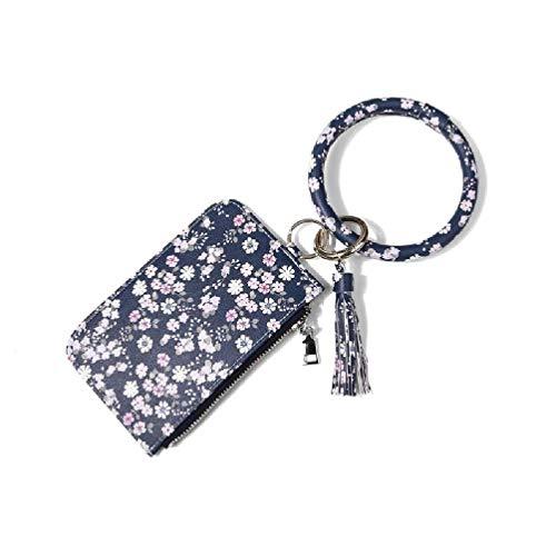 Portatarjetas de PU Llavero de aleación Llavero Colgante creativo Presente Adecuado para bolso Cartera Decoraciones para llaves de coche Portatarjetas de PU para almacenamiento de tarjetas