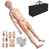 BIUYYY Maniqui de Enfermeria PVC Maniquí Anatómico con Simulación de Módulos de Heridas...