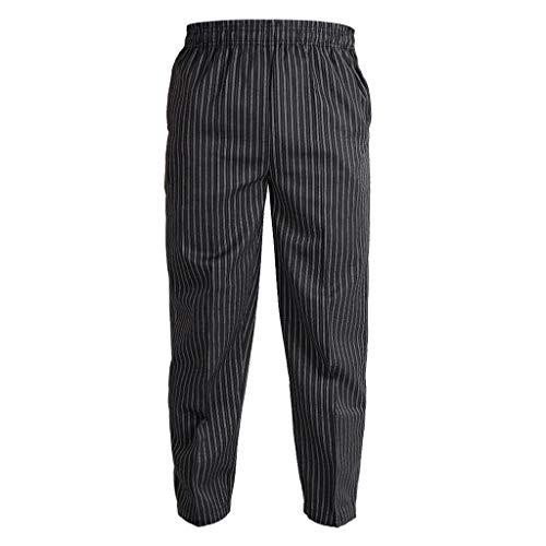 harayaa Unisex Chef Kellner Hosen Hosen Küche Hotel Cafe Uniform Casual Outfits - Zebra, M