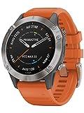 Orologio Garmin Fenix 6 Sapphire Smartwatch Silicone Arancione 47mm...