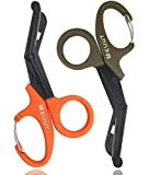 "Best Bandage Scissors - 2 Pack Medical Scissors with Carabiner-7.5"" Bandage Shears Review"