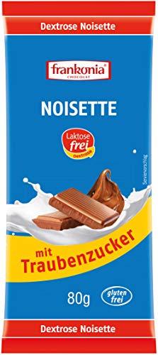 frankonia CHOCOLAT Noisette mit Traubenzucker laktosefrei & glutenfrei, 80 g