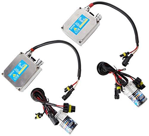 Akhan Digital 9-32V 35W CANBUS Xenon Kit Nachrüstsatz H1 6000 Kelvin inkl. HID Vorschaltgerät, Xenon Brenner Lampe und Montage Material ohne Fehlermeldung und ohne Flackern