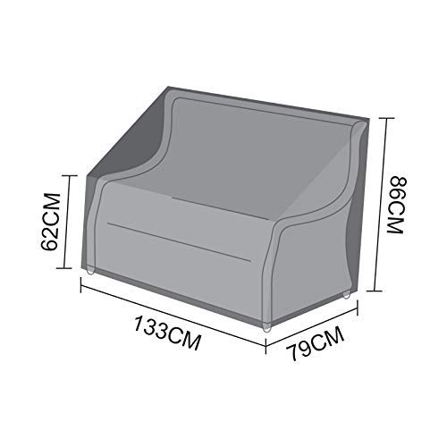 Nova PVC Backed Polyester Weather Resistant Fitted Outdoor Rattan Garden Furniture Cover for Oyster 2 Seat Sofa