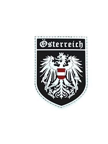 Österreich Wappen Österreichische Leuchten im Dunkeln Flagge Airsoft Klettverschluss PVC-Patch