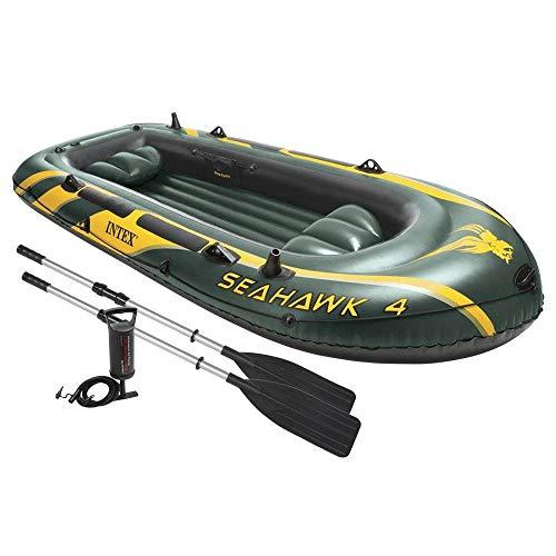 Intex Seahawk 4 Inflatable 4 Person Boat Raft Set