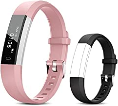 TOOBUR Fitness Activity Tracker Watch for Kids Girls Women, Pedometer, Calorie Counter, IP67 Waterproof Step Counter Watch with Sleep Monitor and Vibrating Alarm Clock (Pink Black)
