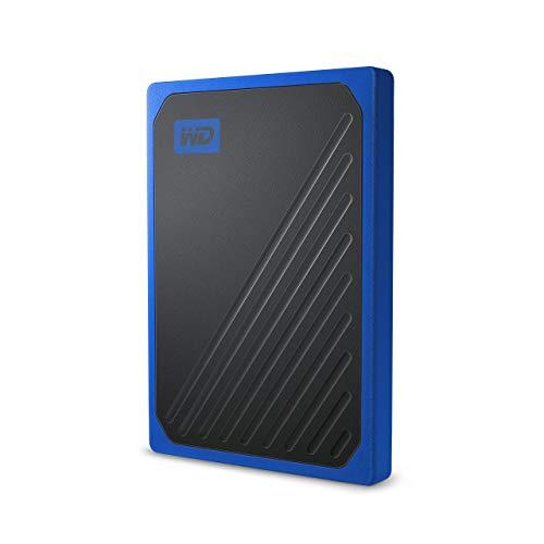 WD My Passport Go SSD Portatile, 500 GB, Bordo Blu Cobalto