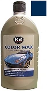 K2 Farbwachs dunkelblau, Wachspolitur Carnauba zum Ausbessern, Lackpolitur 500ml