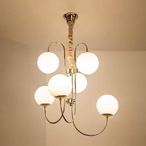 BUNUMO Lámpara Colgante Moderna, Lámpara de Techo con Bola de Vidrio, Lámpara Colgante para Sala de Estar del Dormitorio, Lámpara de araña de luz