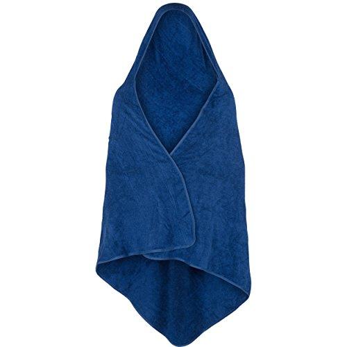 Drachentuch (Kapuzentuch für Erwachsene), 180 x 150 cm, 100% Frottee-Baumwolle, blau, ab 1,65 m Körperhöhe
