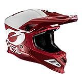 O'NEAL | Casco de Motocross | MX Enduro Motocicleta | Airflaps™ Compatible, Forro Acolchado Coolmax, Cierre de Seguridad Doble-D | Casco 8SRS 2T | Adultos | Rojo | Talla M