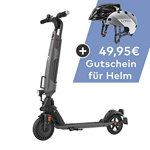 TREKSTOR e.Gear EG6078 E-Scooter mit Straßenzulassung (eKFV), 300 W Motor, austauschbarer 280 Wh Akku, 25 km Reichweite, 8 Zoll Reifen, Stoßgedämpft, nur 14 kg, 150kg Tragkraft, Klappbar