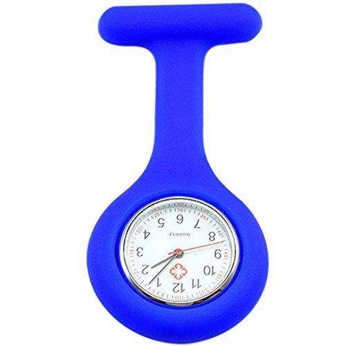 Sanwood Schwesternuhr zum Anstecken, Silikon, Uhr für Pflegepersonal Gr. One size, dunkelblau