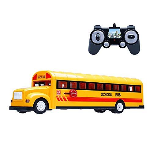 Modelo de autobús escolar Simulación Autobús escolar Puerta eléctrica Control remoto Autobús Coche Juguete para niños 2.4GHz Coche grande con control remoto Juego de música Simulación Coche con contro