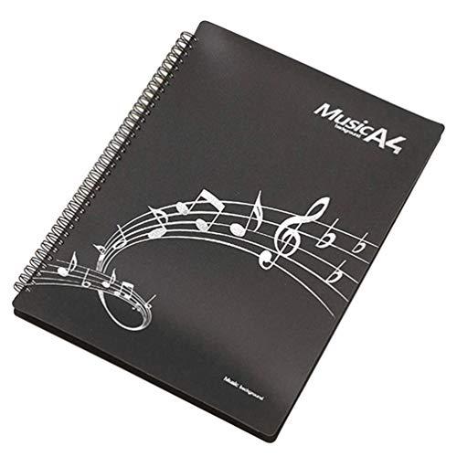 Exceart Musikblatt Datei Papier Ordner Plastikdatei Papier Aufbewahrungsdokumentenhalter A4 Größe Musikdatei Ordner mit 30 Stück auf Den Seiten