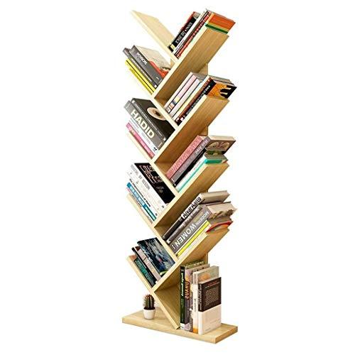 Bookshelf Quiosco-Árbol en Forma de Estantería Multiuso Compacto Almacenamiento Y Librero 8-Capa de Suelo Estantería Estantería de Libros Película Simple Revista Bipedestador de Ministerio Del Interi ⭐