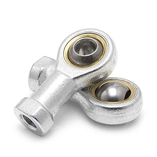 BIlinli 2 Stücke 8mm Innengewinde Metrisches Gewindestangenende Kugelgelenklager SI8T / K PHSA8