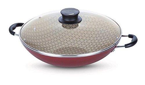 Wok de Alumínio com Revestimento Interno de Antiaderente, Tramontina, Vermelho, Medio